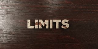 Limits - grungy wooden headline on Maple  - 3D rendered royalty free stock image Stock Photography