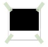 Limmad polaroid- bild Arkivbilder
