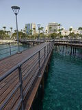 Limmasol city from end of wooden pier Stock Images