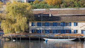Limmat Club Zurich Royalty Free Stock Photo