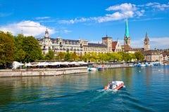 Limmat Fluss, Zürich Stockfotos
