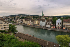 The Limmat. Is a river in Switzerland. The river commences at the outfall of Lake Zurich, in the southern part of the city of Zurich Royalty Free Stock Image