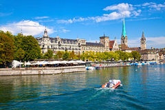 Limmat River, Zurich Stock Photos