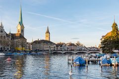 Limmat river in Zurich Royalty Free Stock Image