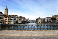 Limmat river, Zurich Stock Photography