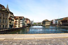 Limmat river, Zurich Royalty Free Stock Photos
