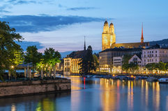 Limmat river in Zurich Stock Image