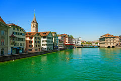 Limmat River in Zurich Royalty Free Stock Photo