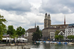 Limmat river in Zurich Stock Photo