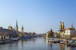 Limmat river in Zurich Royalty Free Stock Photography