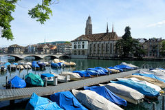 Limmat river, Zurich Stock Images