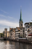 Limmat riverside in Zurich Royalty Free Stock Photo