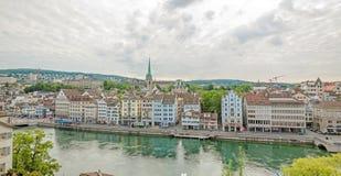 Limmatquai, downtown Zurich, Switzerland Royalty Free Stock Images