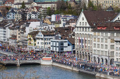 Limmatquai quay during the Sechselauten parade Royalty Free Stock Photography