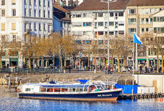 Limmatquai quay in Zurich, Switzerland Stock Photo