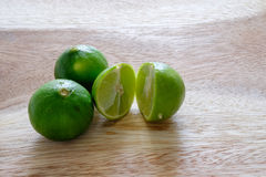 Limón verde Imagen de archivo libre de regalías