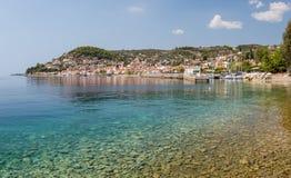 Limni村庄,优卑亚岛,希腊 免版税库存图片