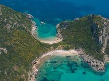 Limni beach in Paleokastritsa, Corfu Greece v Stock Photography