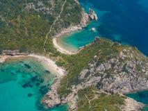 Limni beach in Paleokastritsa, Corfu Greece v Stock Photos