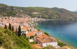 Limni-Dorf, Euboea, Griechenland Lizenzfreie Stockfotografie