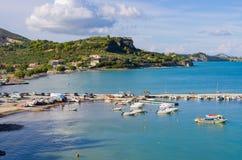 Limni Keriou海湾,扎金索斯州,希腊 图库摄影