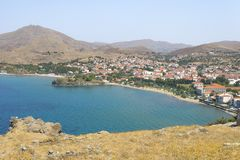 Free Limnos Island, City Myrina Photo From Ruin Greek Fortress. Royalty Free Stock Images - 128034439