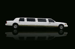 Limo. Usine over black Royalty Free Stock Images