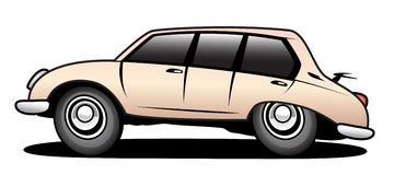 Limo. With antenna in action Stock Images