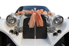 Limo. The wedding limousine decorated with ribbons Stock Image