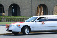 Limo. Stretch limo at wedding Royalty Free Stock Photography