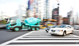 Limo Car Vehicle in motion blur Royalty Free Stock Photography