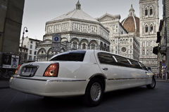 Limo and Cathedral Duomo Florence Stock Image