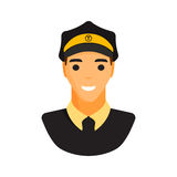 Limo chauffeur taxi driver character vector. Royalty Free Stock Photos