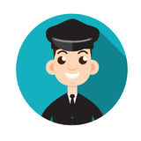 Limo driver. Limousine driver icon. Flat style. Vector illustrat. Limo driver. Limousine driver icon. Flat style. Vector image Royalty Free Stock Photos