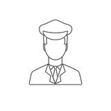 Limo Driver Linear Icon. Limousine Driver Icon. Flat Style. Vec Royalty Free Stock Photos