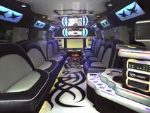 Limo Inside Royalty Free Stock Photos