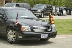 Limo presidencial preto Fotografia de Stock Royalty Free