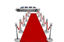 Limo and red carpet Stock Images