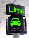Limo Sign Royalty Free Stock Images