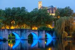 Limoges ad una notte di estate Immagine Stock Libera da Diritti
