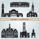 Limoges landmarks and monuments Royalty Free Stock Images