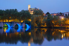 Limoges at night Stock Photo