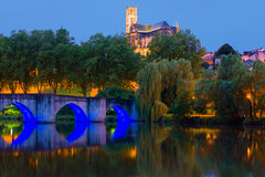 Limoges at night Stock Photography