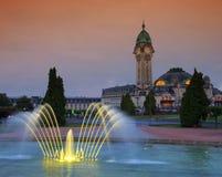 Limoges stacja nocą Obrazy Royalty Free
