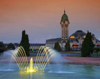 Limoges station by night Royalty Free Stock Images