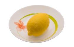 Limon που απομονώνεται στο λευκό Στοκ Εικόνες
