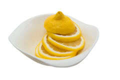 Limon που απομονώνεται στο λευκό Στοκ εικόνες με δικαίωμα ελεύθερης χρήσης