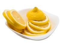 Limon ha isolato su bianco fotografia stock