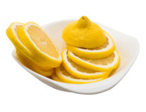 Limon a isolé sur le blanc photographie stock