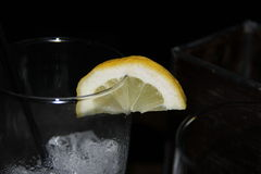 Limon peal. On a cup Stock Images